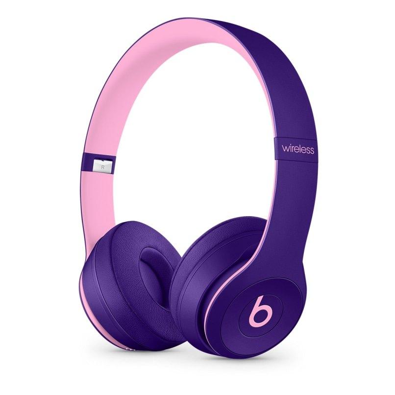 Fones Beats Solo3 Wireless na cor violeta pop