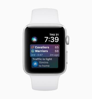 Mostrador da Siri no watchOS 5