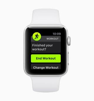 Detecção automática de exercícios no watchOS 5