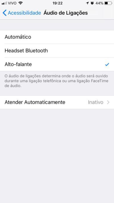 Configurando o iPhone para sempre atender chamadas diretamente no viva-voz