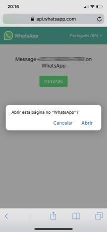 Começando uma conversa no WhatsApp com um número que não está na sua agenda