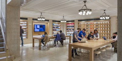 Interior da Apple Upper East Side