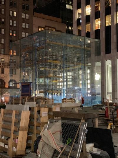 Obras na Apple Fifth Avenue