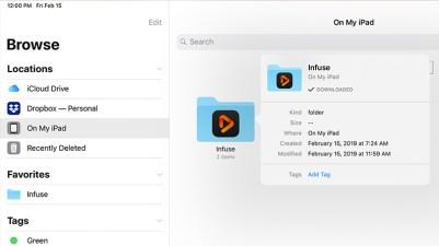 Suporte ao app Arquivos no Infuse 6
