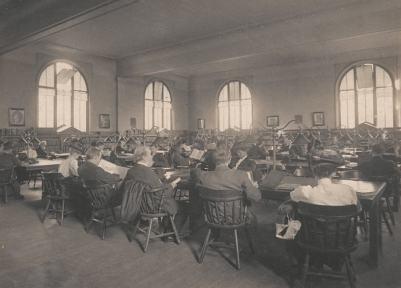 O que se transformou a área de leitura da Carnegie Library