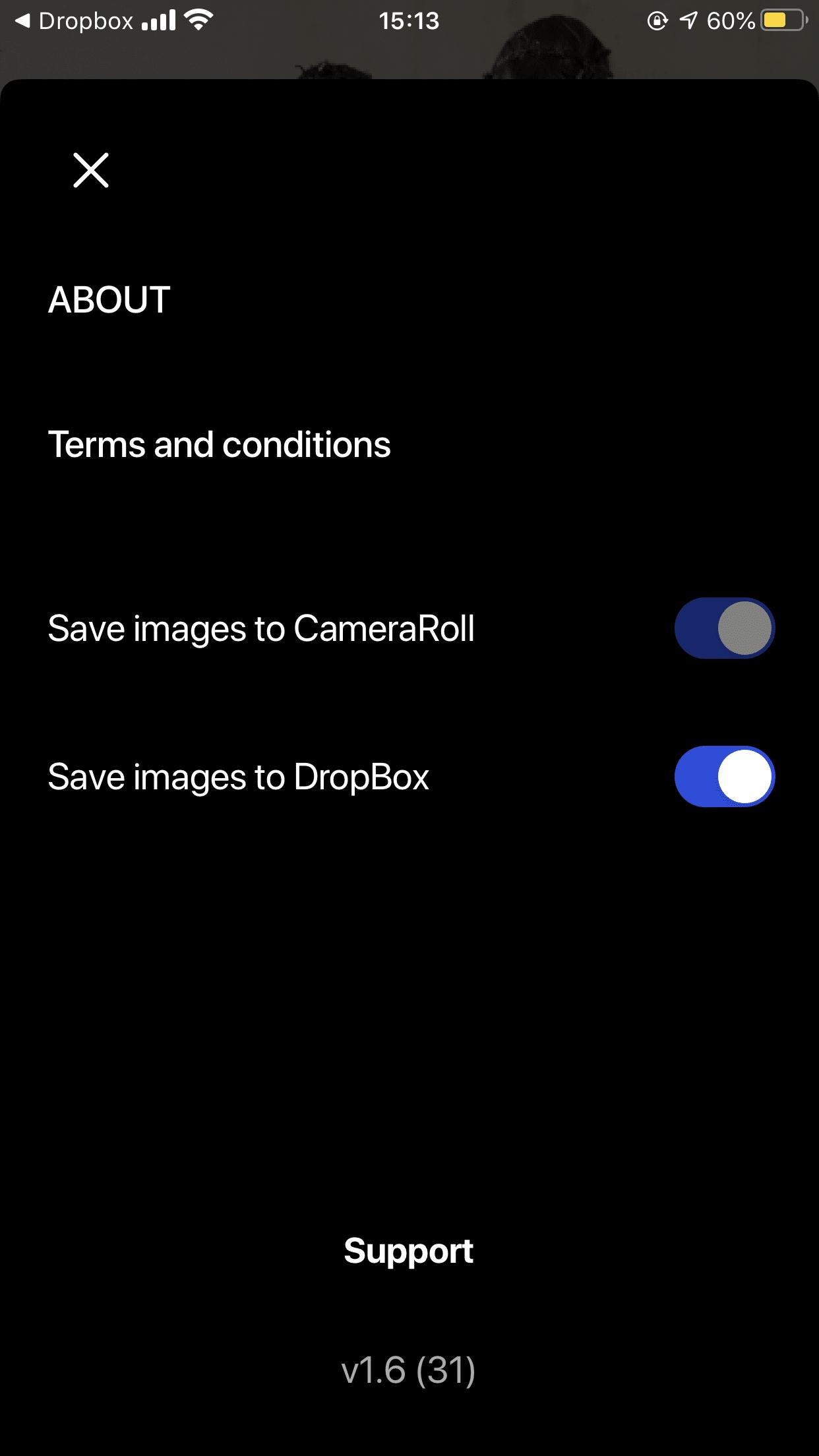 Usando o app CLOS - Remote Shooting