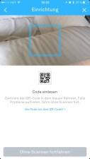 Nach Kamerafreigabe: QR Code scannen