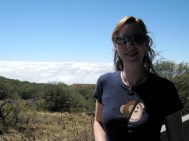 Sarah at the Mauna Kea Visitor Center