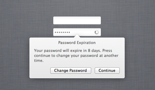 10.8 Password Expiration