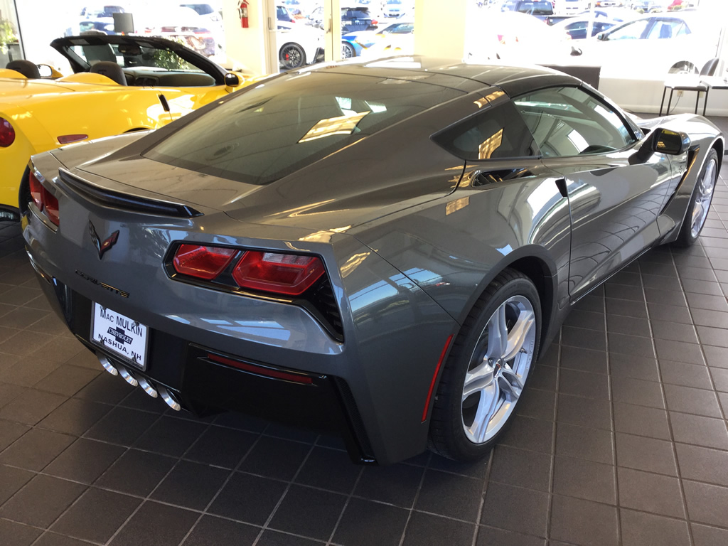 available 2016 corvette stingray coupe 2lt in shark gray metallic only 54 063 macmulkin. Black Bedroom Furniture Sets. Home Design Ideas