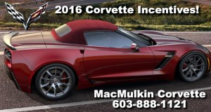 May 2016 - New Corvette Incentives for 2016 Corvettes!