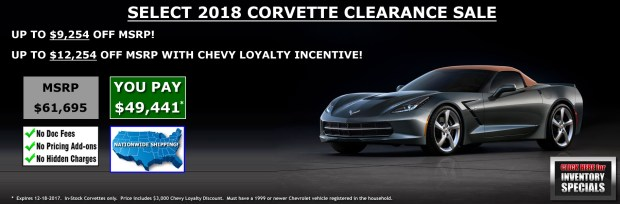 2018 Corvette Sale at MacMulkin Chevrolet