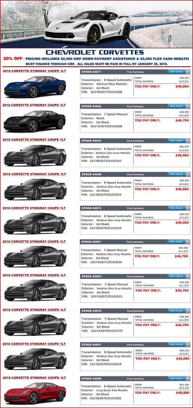 MacMulkin Chevrolet - 2018 Corvette Sale - 20% Off!