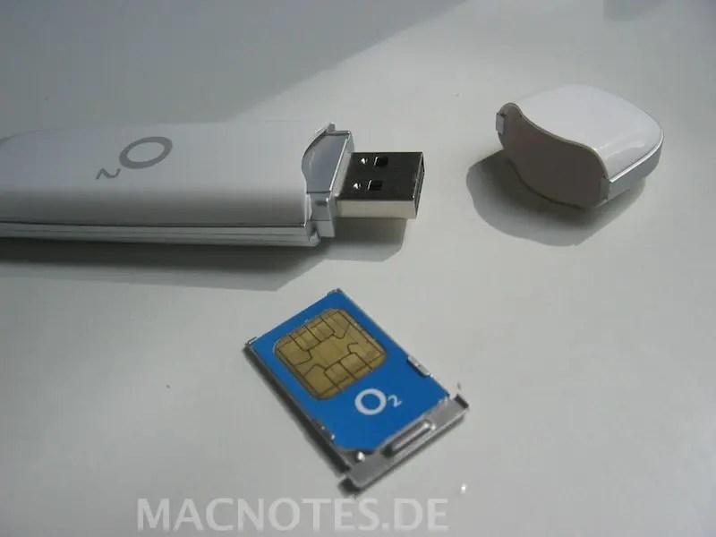 O2 Surfstick und SIM-Karte