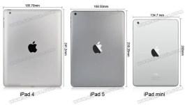 iPad 4, iPad 5 und iPad mini im Vergleich, Foto: sw-box.com