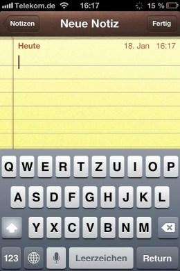 iPhone-Tastatur ohne Umlaute