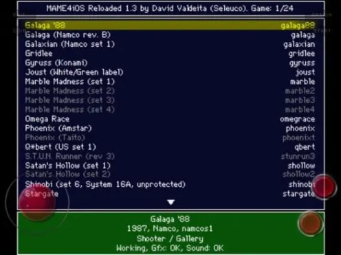 MAME4iOS Reloarded 1.3