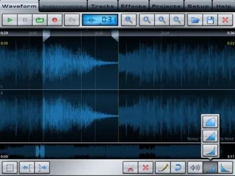 Music Studio am iPad: Wave-Editor