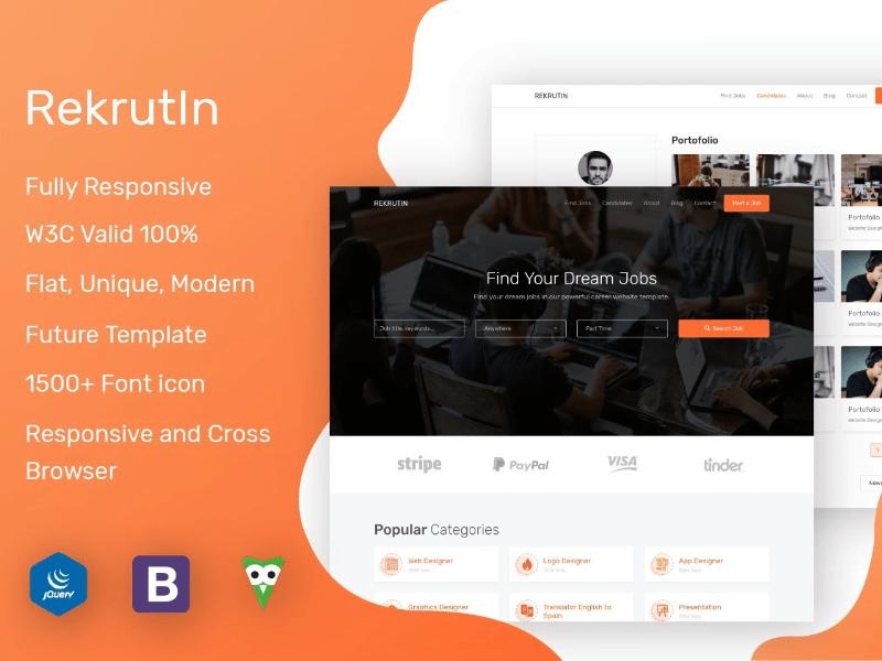 RekrutIn - Job portal template