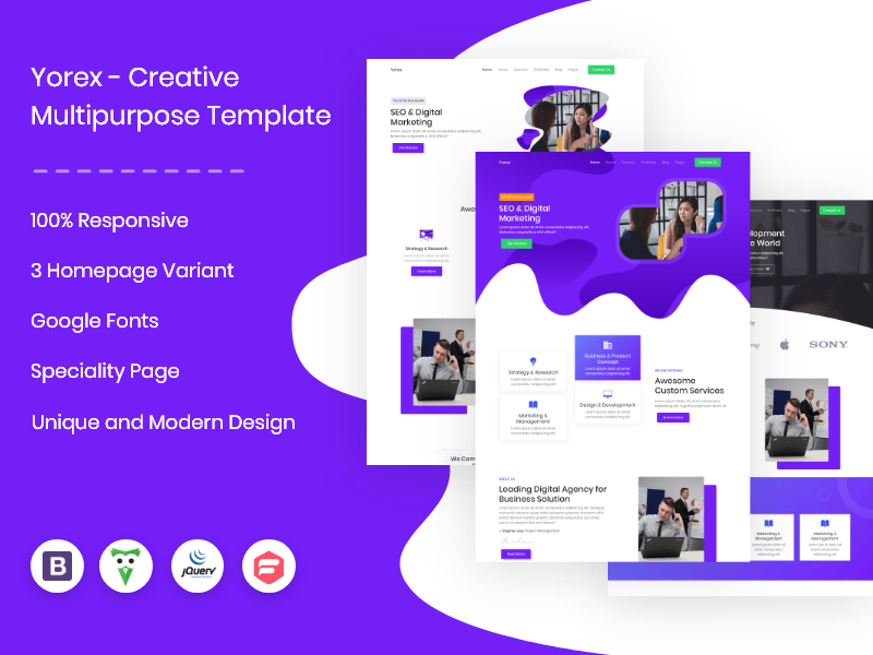 Yorex - Multipurpose agency template