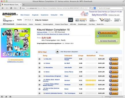 Kitsuné Maison Compilation 15: Various artists: Amazon.de: MP3-Downloads 2013-11-03 21-15-39