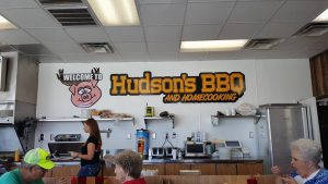 Inside Hudson's Barbecue