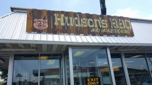 Hudson's Barbecue in Byron outside