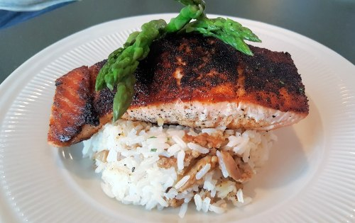 Cajun Salmon - Mommas Boy Kitchen - Macon Community News
