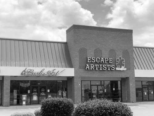Lush Art and Escape Artists are located side by side with Lush Lounge on Russell Parkway