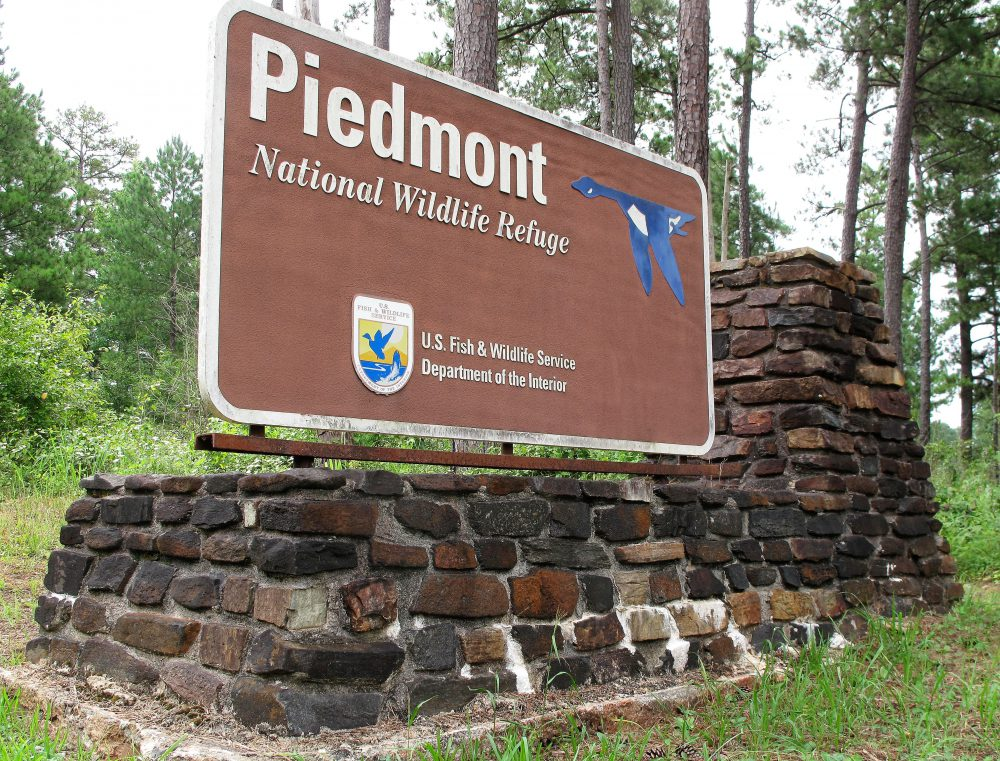 Piedmont Wildlife Refuge Sign