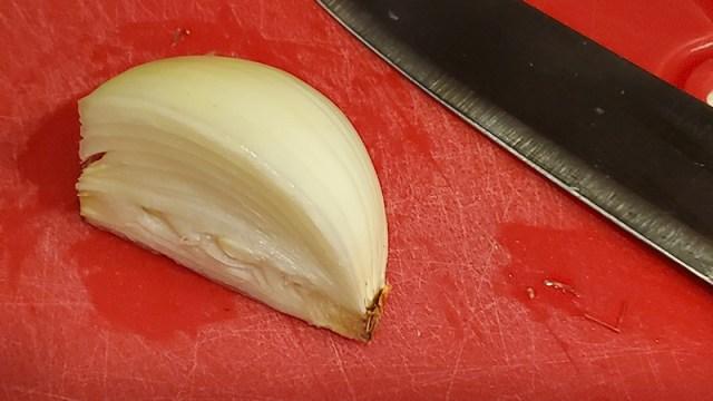 Quarter of a large onion