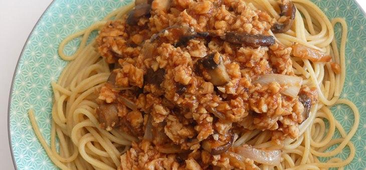 Spaghetti bolognaise véganes