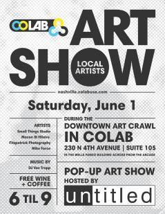 COLAB art show June & July