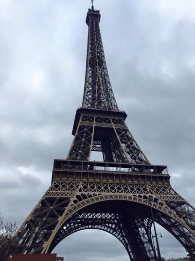 Viewing the Eiffel Tower during International Business Networking weekend in Paris