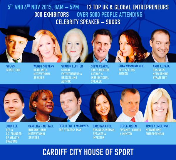 Speakers at Cardiff Business Exhibition 2015