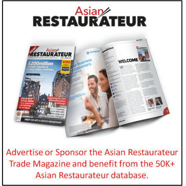Excellent Advertising Or Sponsorship opportunity for those looking to market themselves to the UK Asian restaurateur market…