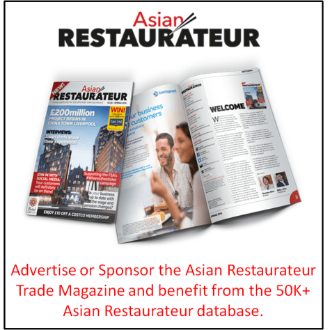 Asian Restaurateur Trade Magazine Advertising to Asian Restaurants
