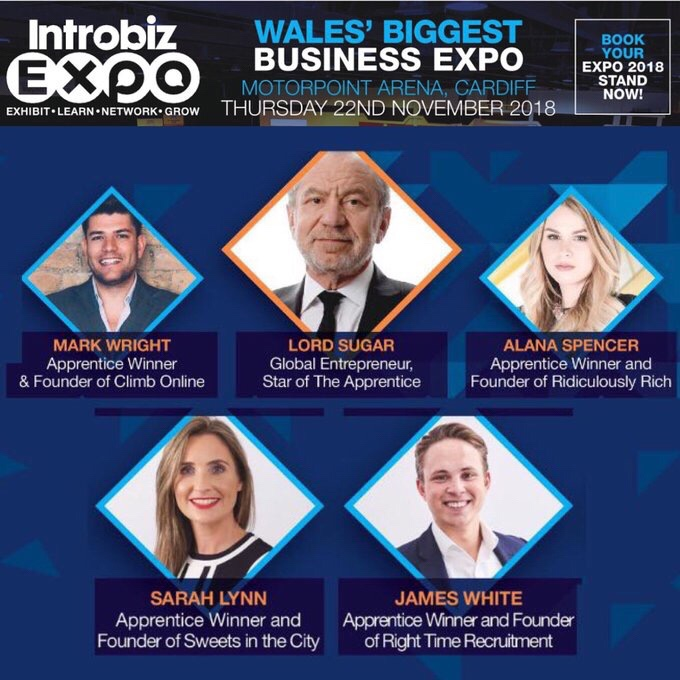 3 Days to go until Introbiz Expo 2018 An Audience with Lord Sugar — Introbiz' Blog – Wales' Biggest Business Network & Expo