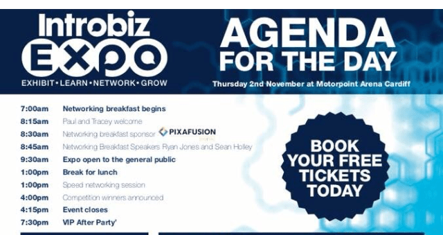 Introbiz Expo 2018 Business Networking Breakfast This Thursday at The Motorpoint Arena — Introbiz' Blog – Wales' Biggest Business Network & Expo