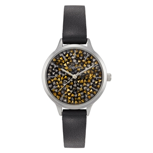 Takt. Casie Rock Crystal Dial Watch - Black or Purple