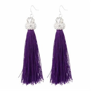 Midnight Luxe Tassel Earrings