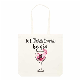 Canvas Novelty Shopper - Llama or Gin