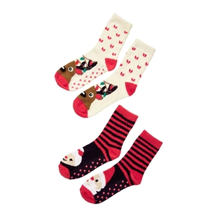 Nordic Noel 2-Pack Slipper Socks
