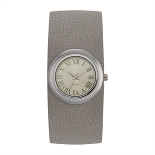 Takt. Lenae Wide-Cuff Watch - Grey or Berry