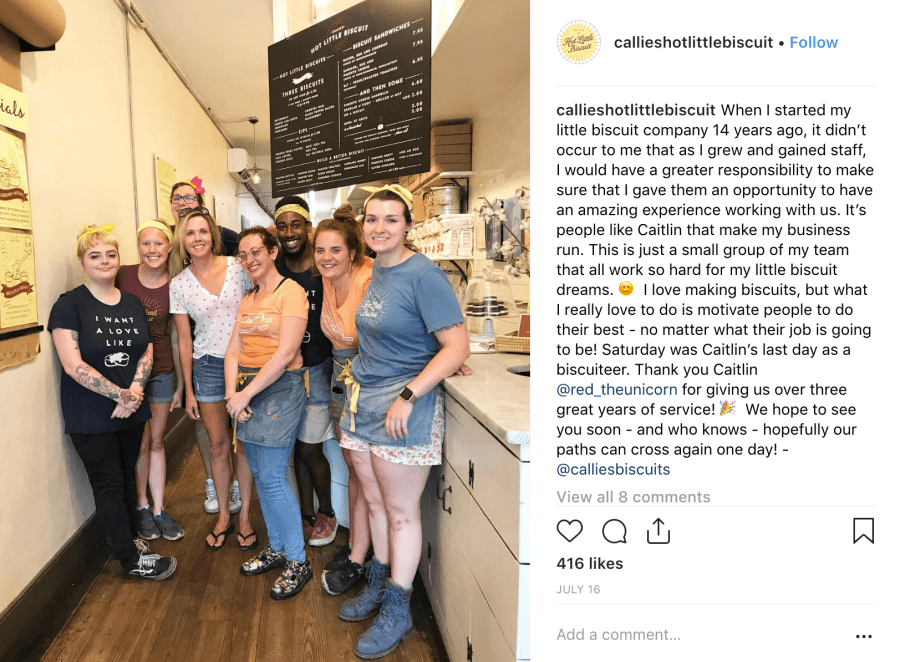 Callie's Biscuits - Top Facebook Posts 2019