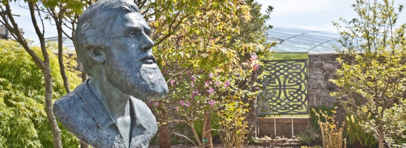 Bust of Alfred Russel Wallace l;located in our Wallace Garden