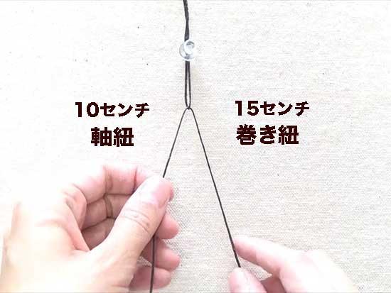 初めの紐の設定