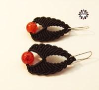 Tutorial: Red beaded earring  Macramotiv