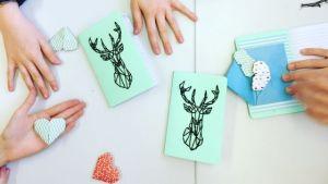 atelier créatif, carnet brodé