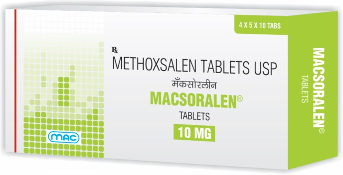 Macsoralen tablets 10 mg methoxsalen